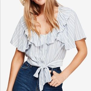 Free people rosemary top xs new